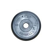 Диск обрезиненный Atlet 1.25 кг. 26 мм