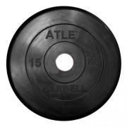 Диск обрезиненный Atlet 15 кг. 26 мм