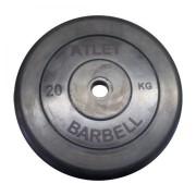 Диск обрезиненный Atlet 20 кг. 26 мм