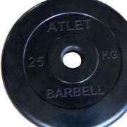 Диск обрезиненный Atlet 25 кг. 51 мм.