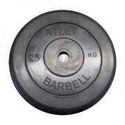 Диск обрезиненный Atlet 25 кг. 26 мм