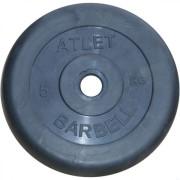 Диск обрезиненный Atlet 5 кг. 26 мм