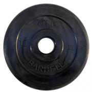 Диск обрезиненный Atlet 10 кг. 51 мм.